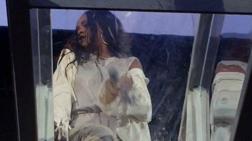 Rihanna auf der Konzertbühne in Dublin