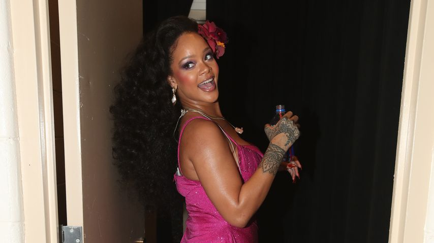 Rihanna Backstage bei den Grammys 2018