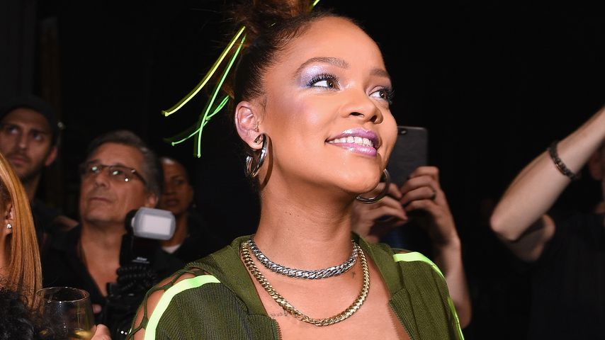 Rihanna backstage bei ihrer Fenty-Puma-Show auf der New York Fashion Week