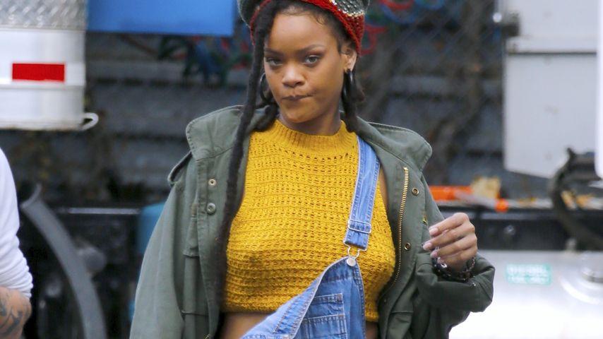 """Rihanna am Filmset von """"Ocean's Eight"""" in New York"""