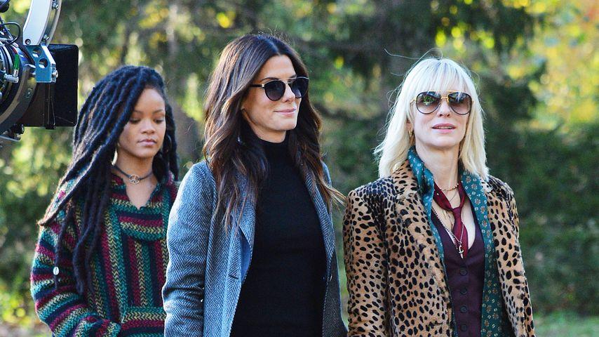 "Rihanna, Sandra Bullock und Cate Blanchett bei den Dreharbeiten zu ""Ocean's Eight"""
