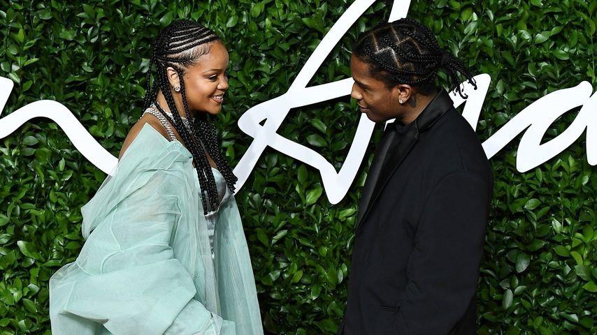 Rihanna und A$AP Rocky bei den Fashion Awards 2019