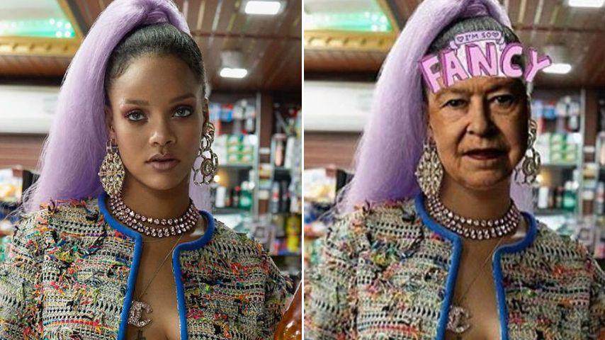 Not amused! RiRi blamiert die Queen mit sexy Photoshop-Pics