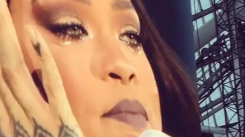 Rihanna bei ihrem Konzert in Dublin