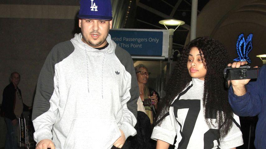 Inkognito: Rob Kardashian & Blac Chyna im Schlabber-Look