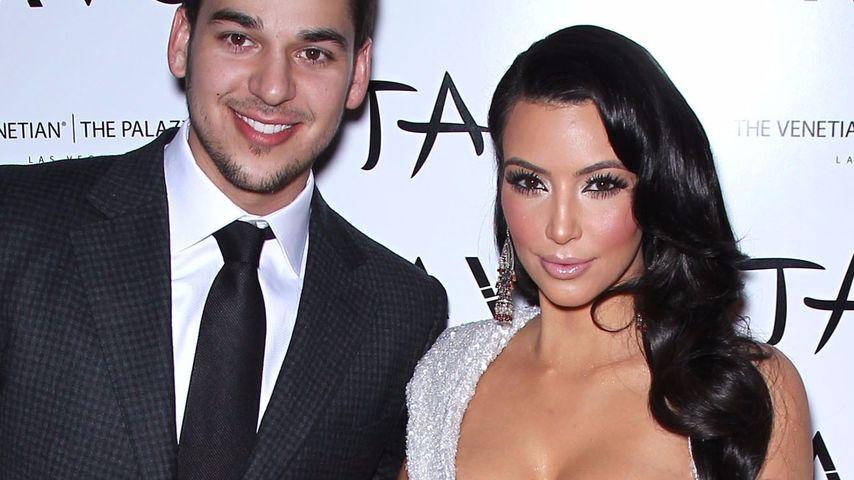 Vertragen? Kim Kardashian war mit Bruder Rob wandern!