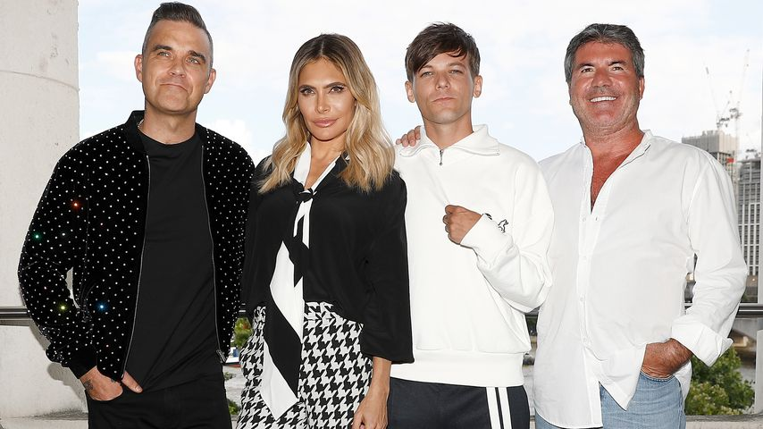 "Robbie Williams, Ayda Field, Louis Tomlinson und Simon Cowell beim ""X-Factor"" 2018 Launch"