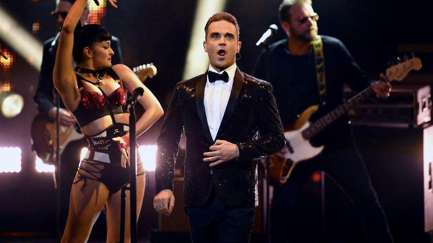 Das sagt ihr zu Robbie Williams' Baby-Show