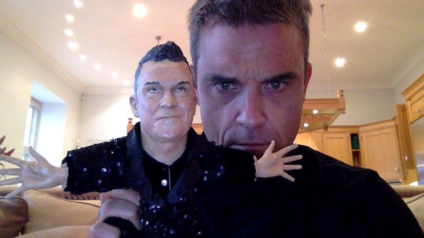 """Töchterchen Teddy (3) mobbt Robbie Williams' """"Doppelgänger"""""""