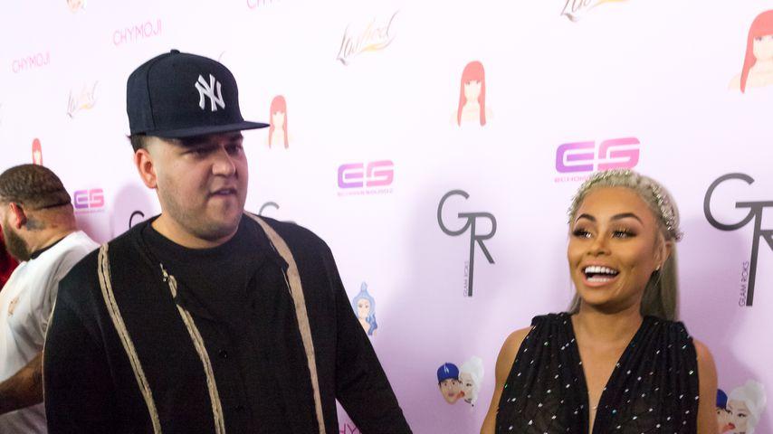 Robert Kardashian und Blac Chyna auf dem roten Teppich
