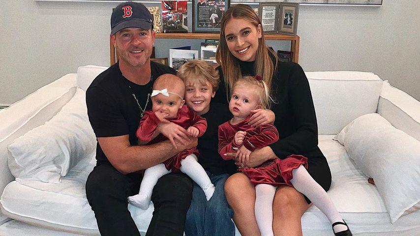 Robin Thicke mit seinen drei Kindern und seiner Frau April Love Geary
