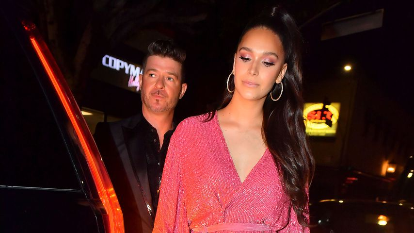 Robin Thicke und April Love Geary in Los Angeles