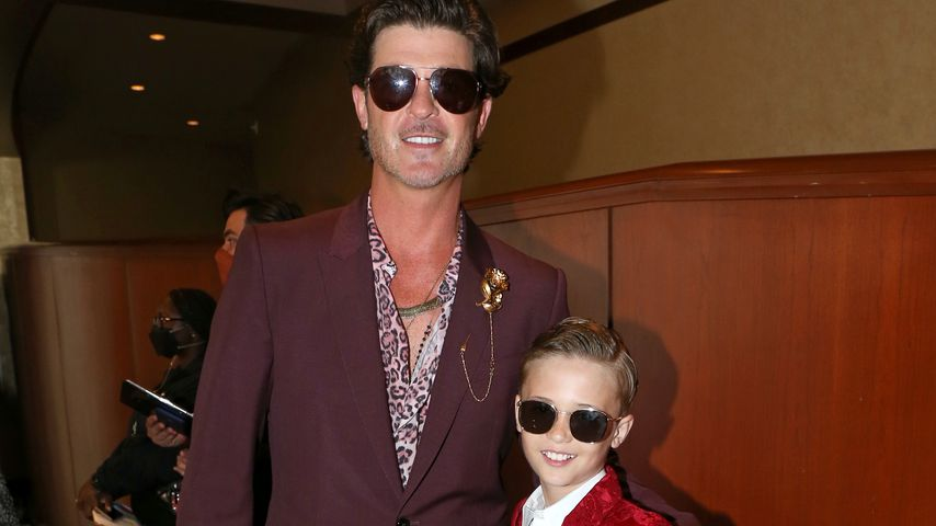 Robin Thicke und sein Sohn Julian Fuego bei den iHeartRadio Music Awards 2021