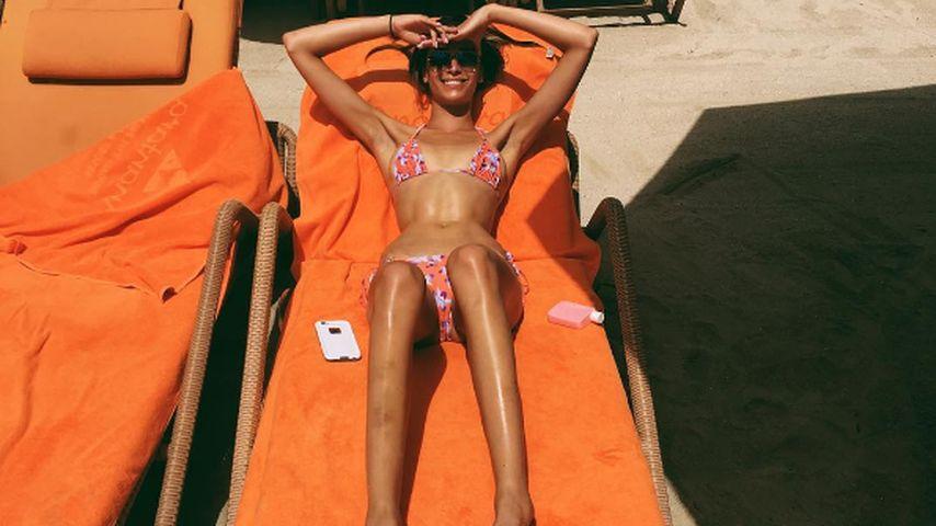 Ganz schön dünn: Robin-Thicke-Freundin als Sun-Babe