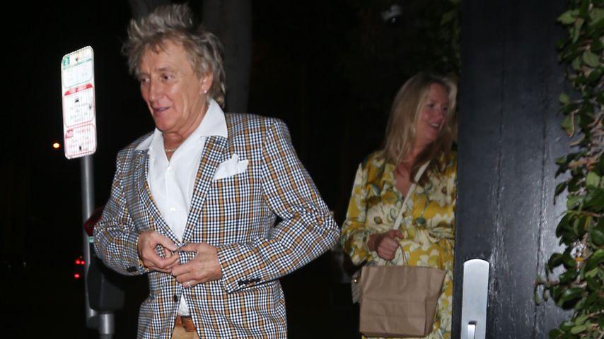 Rod Stewart mit seiner Frau Penny Lancaster