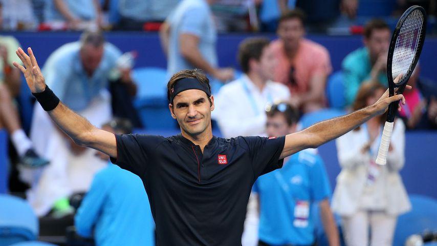 Roger Federer beim 2019 Hopman Cup