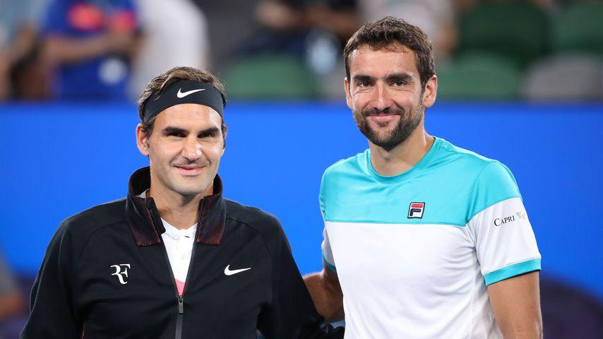 Roger Federer und Marin Čilić
