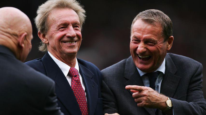 Fußballer Denis Law und Roger Hunt