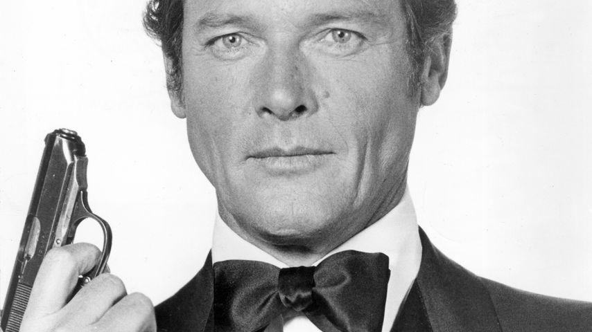 """Roger Moore als James Bond in """"Mondblitz"""", 1977"""