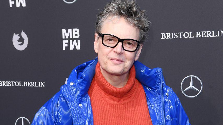 Casting-Direktor Rolf Scheider auf der Ivanman-Fashionshow in Berlin