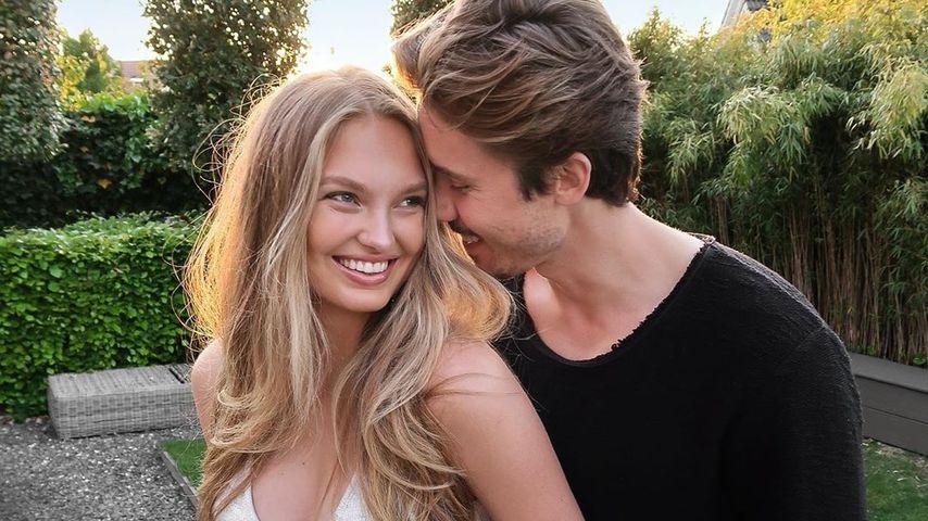 Romee Strijd mit ihrem Freund Laurens van Leeuwen