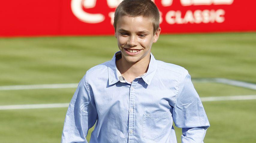 Romeo Beckham bei einem Tennismatch in London