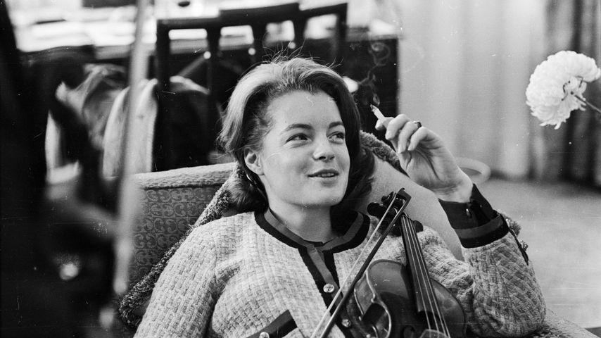 Schauspielerin Romy Schneider im Jahr 1962