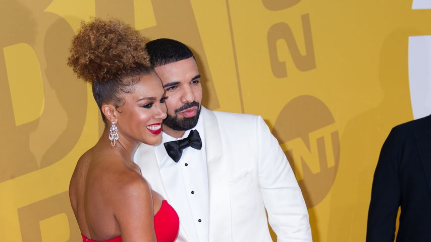 Rosalyn Gold-Onwude und Drake bei den 2017 NBA Awards in New York City