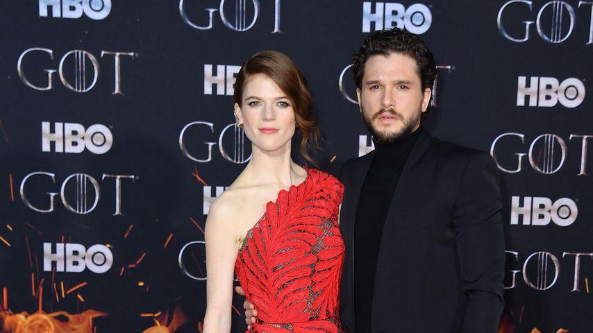 """Rose Leslie und Kit Harington bei der Premiere zur achten Staffel von """"Game of Thrones"""""""