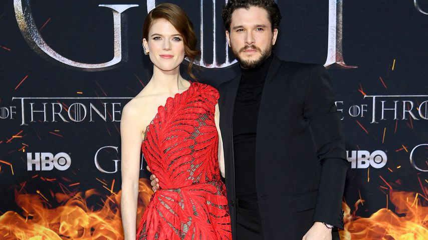 Rose Leslie und Kit Harington im April 2019