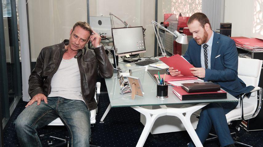 """Rufus (Kai Noll) und Tobias (Patrick Müller) bei """"Unter uns"""""""