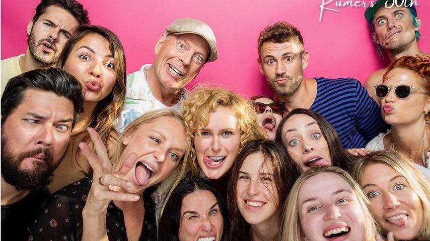 Rumer Willis an ihrem 30. Geburtstag mit Freunden und Familie