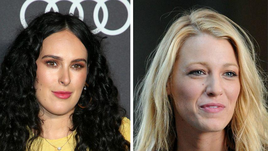 """Collage: Rumer Willis und Blake Lively alias Serena van der Woodsen (""""Gossip Girl"""")"""