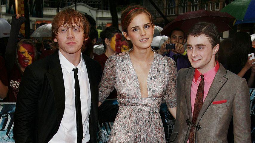 Emma Watson, Rupert Grint und Daniel Radcliff