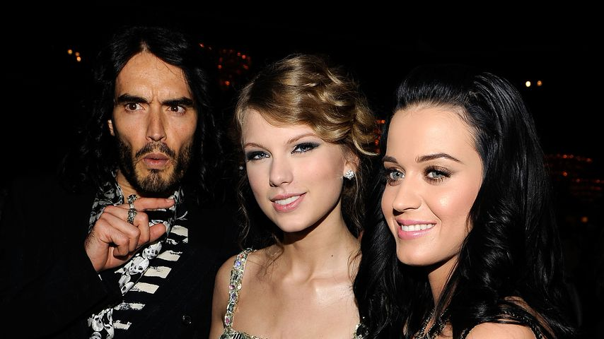 Russell Brand, Taylor Swift und Katy Perry im Januar 2010 in Beverly Hills
