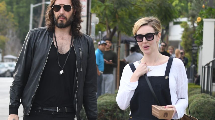 Russell Brand und Laura Gallacher in LA 2018