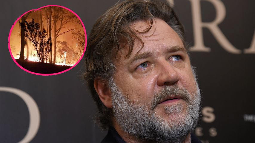 Schock: Russell Crowes Farm in Australien stand in Flammen!