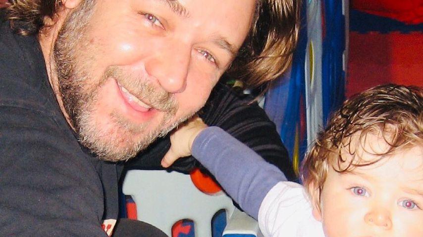 Russell Crowe mit seinem Sohn Tennyson
