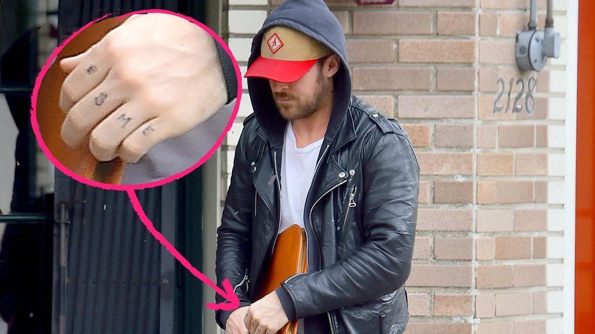 Ryan Gosling: Name seiner Tochter ziert die Hand!