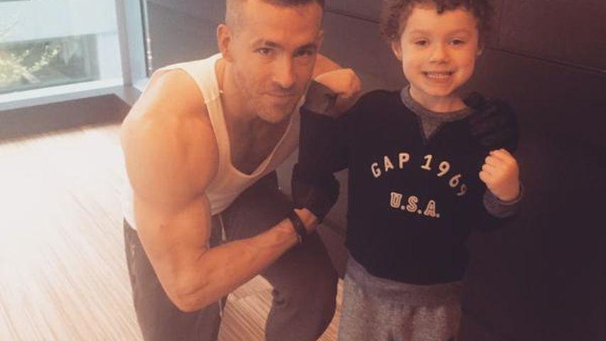 Muskel-Protz Ryan Reynolds hat einen neuen Trainingskumpel