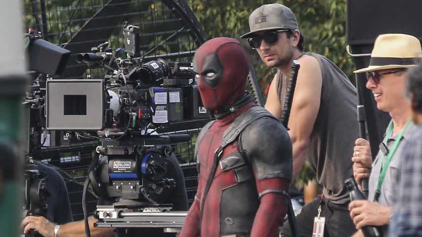 """Ryan Reynolds bei den Dreharbeiten zu """"Deadpool 2"""""""