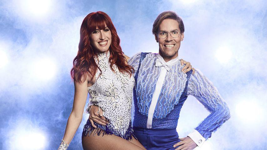 "Sabrina Cappellini  und Jens Hilbert bei ""Dancing on Ice"""