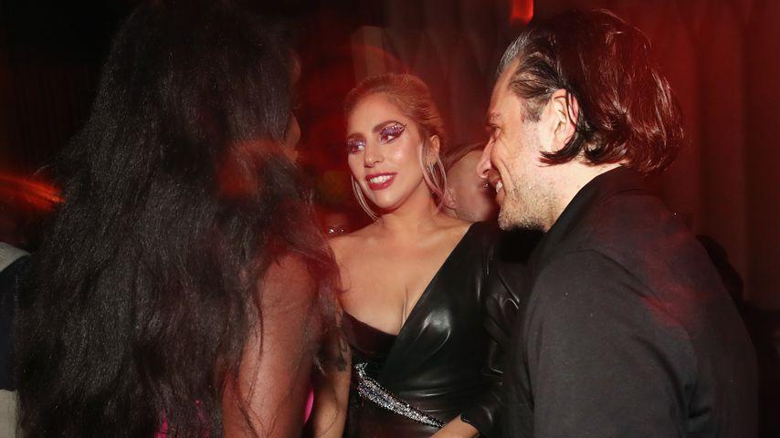 Sängerin Lady Gaga und Christian Carino bei einer Party