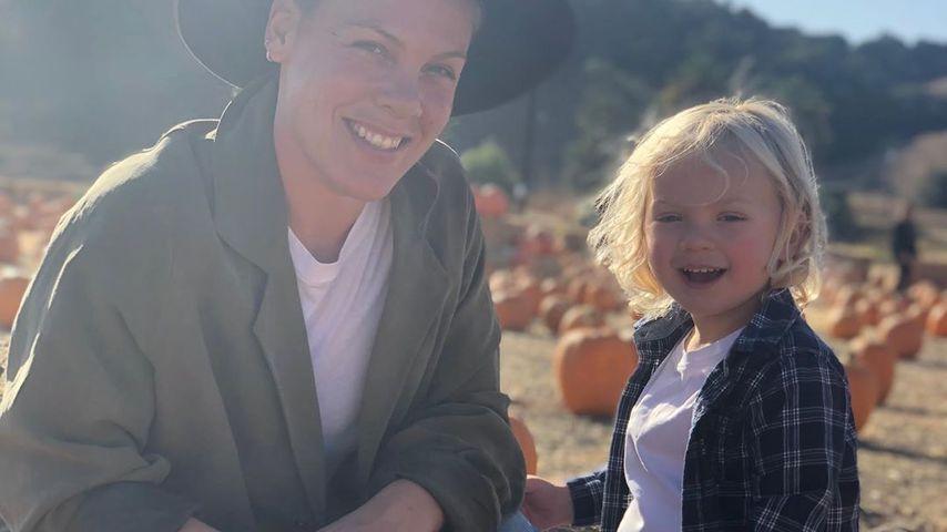 Sängerin Pink und ihr Sohn Jameson im April 2020
