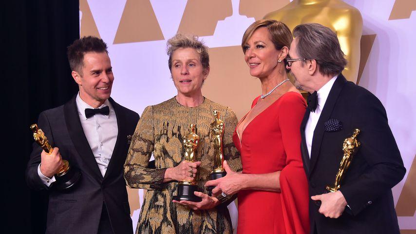 Sam Rockwell, Frances McDormand, Allison Janney und Gary Oldman, Oscar-Preisträger 2018