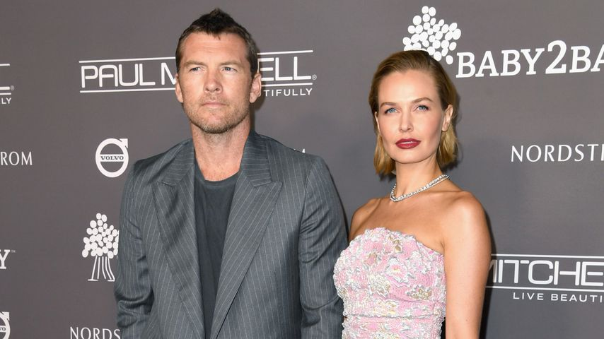 Sam Worthington und Lara Bingle Worthington im November 2018