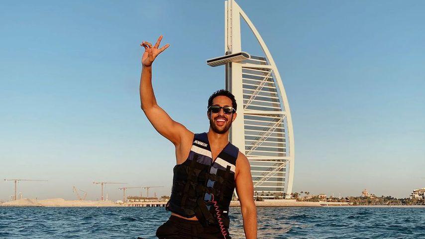 Sami Slimani in Dubai, 2020