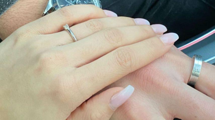 """Verlobungsringe der Ex-""""Love Island""""-Kandidaten Samira und Yasin"""