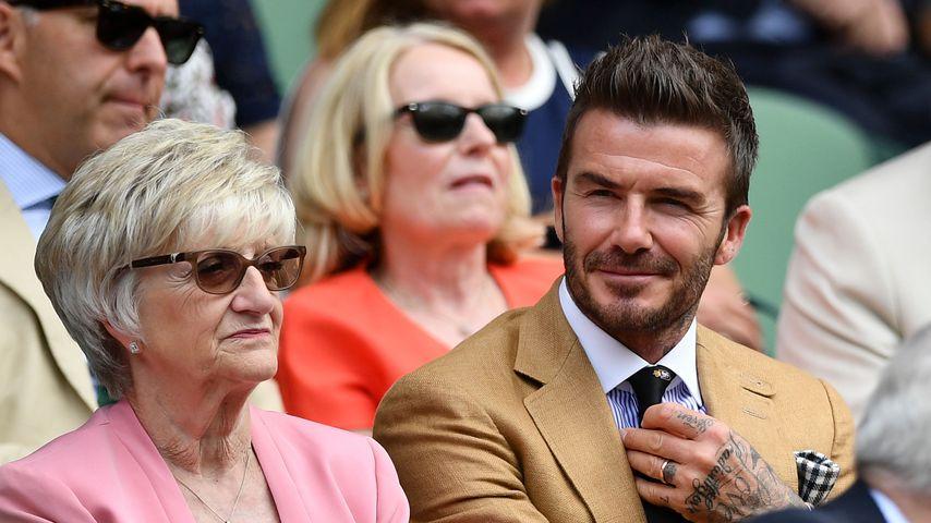 Sandra Beckham und ihr Sohn David 2019 in London