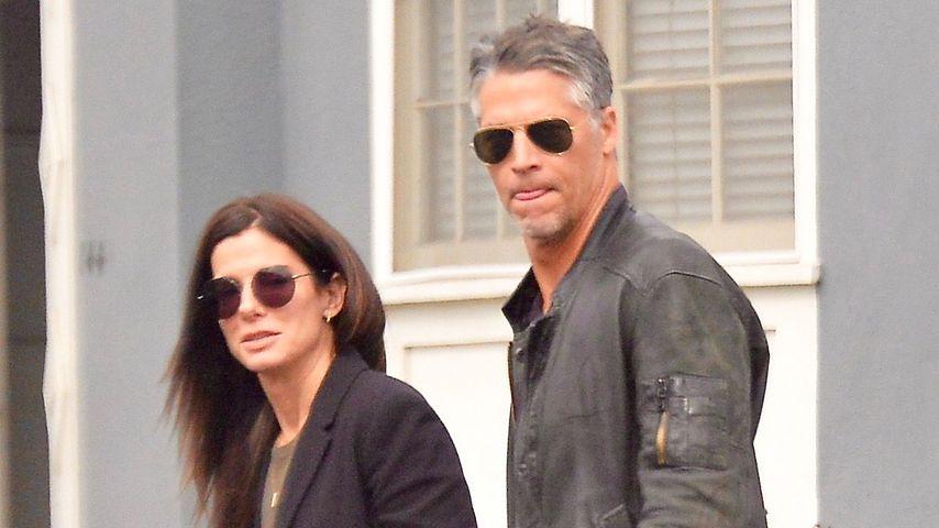 Schauspielerin Sandra Bullock und ihr Partner Bryan Randall